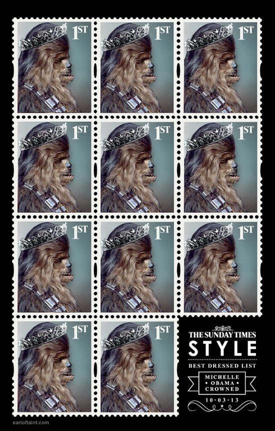 michelle obama royal stamp uk advert