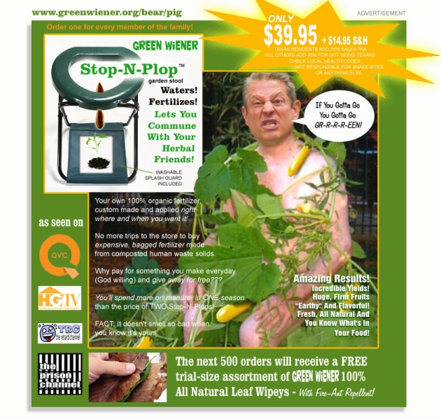 al gore shits in his garden