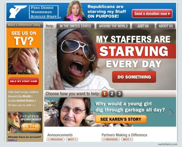 debbie wasserman schultz staff is starving