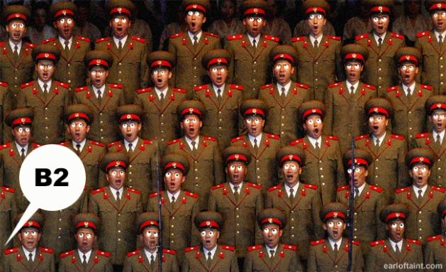 nork army bingo night scare
