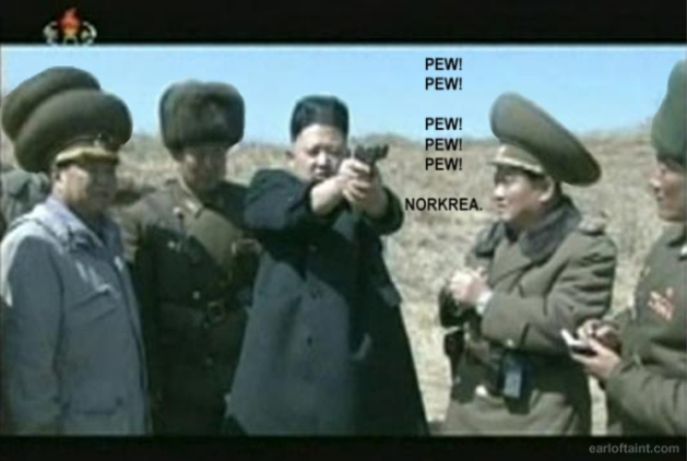 kim jong un shoots a gun