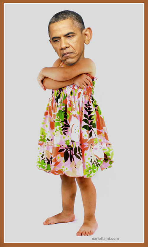 obama pouts like a little girl