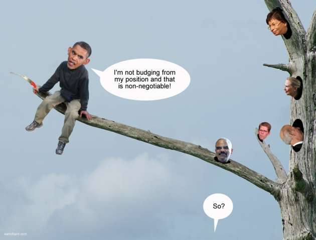 obama obstinance