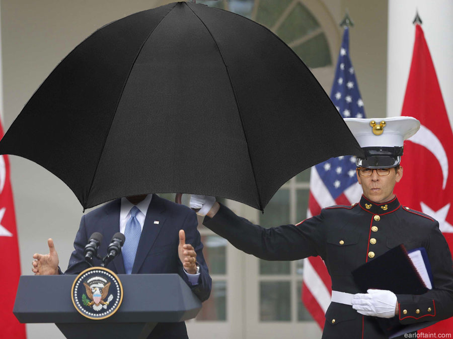 obama umbrella moran