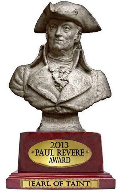 Earl Of Taint Paul Revere Award