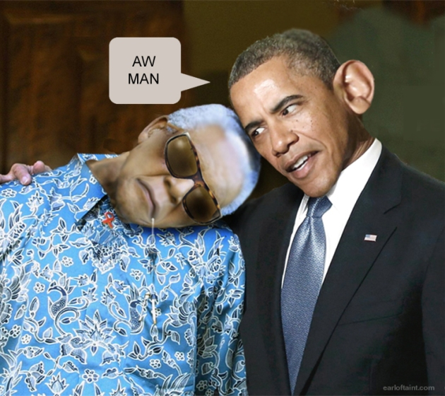 obama mandela photo op