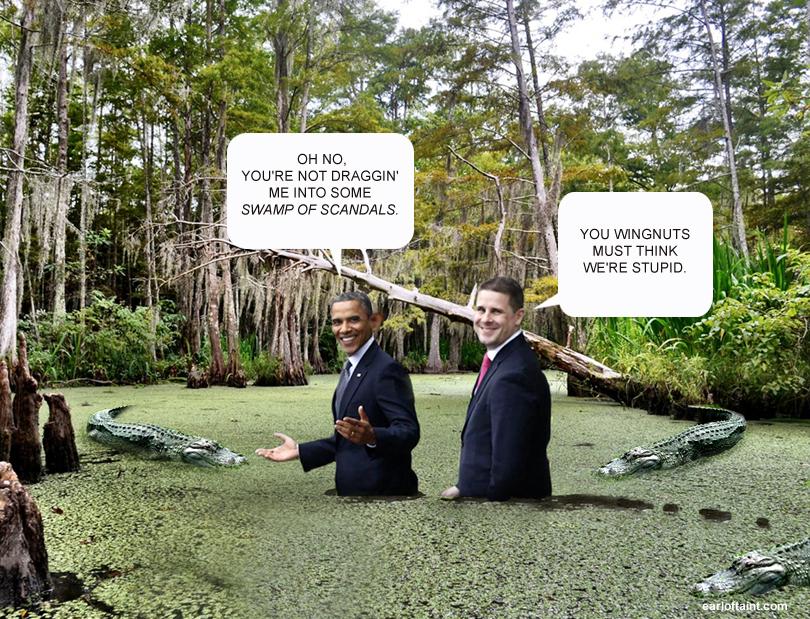 obama scandals swamp