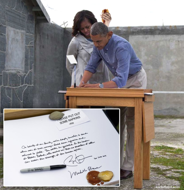 obama at robben island south africa