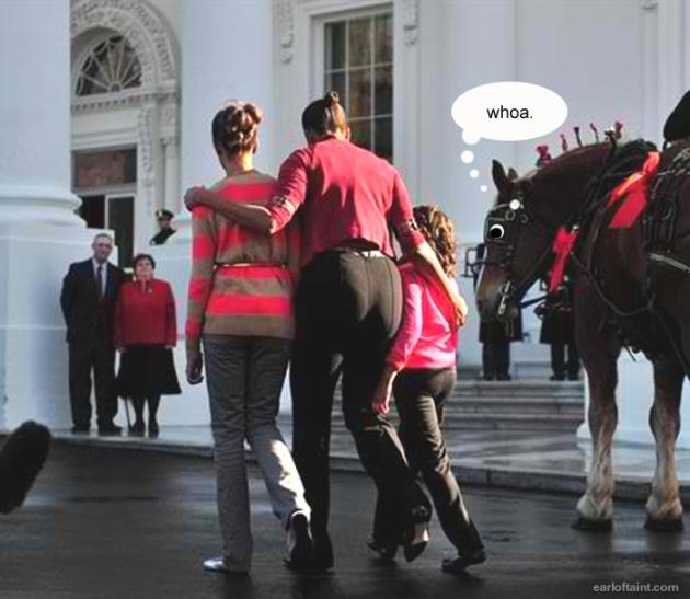 michelle obama, horse,