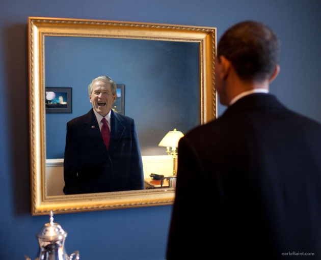 obama = bush