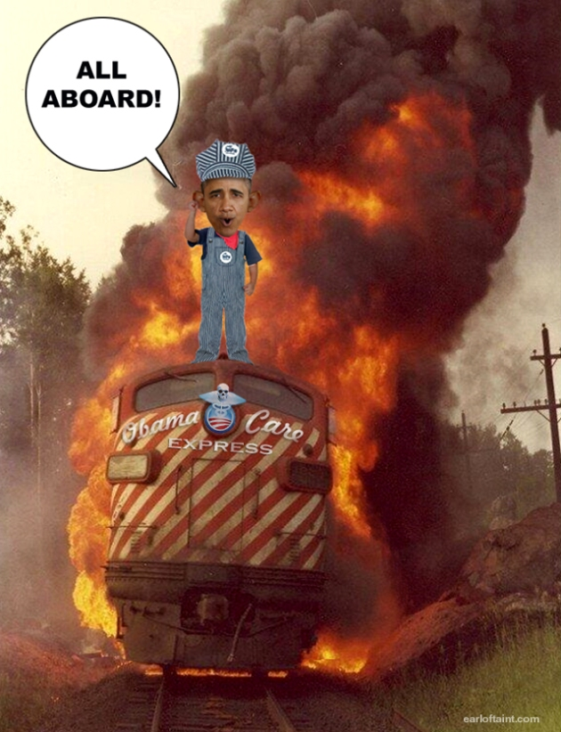 train wreck obamacare