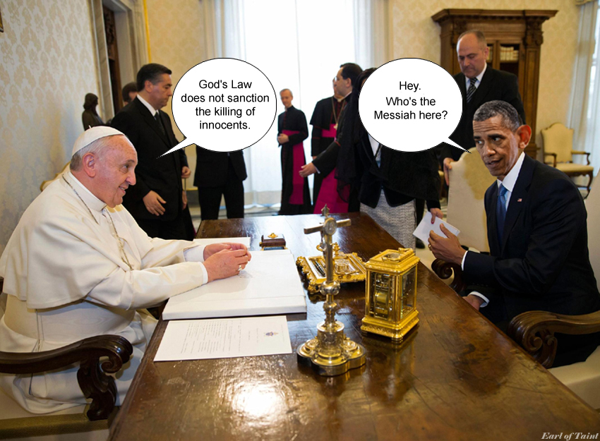 obama with pope