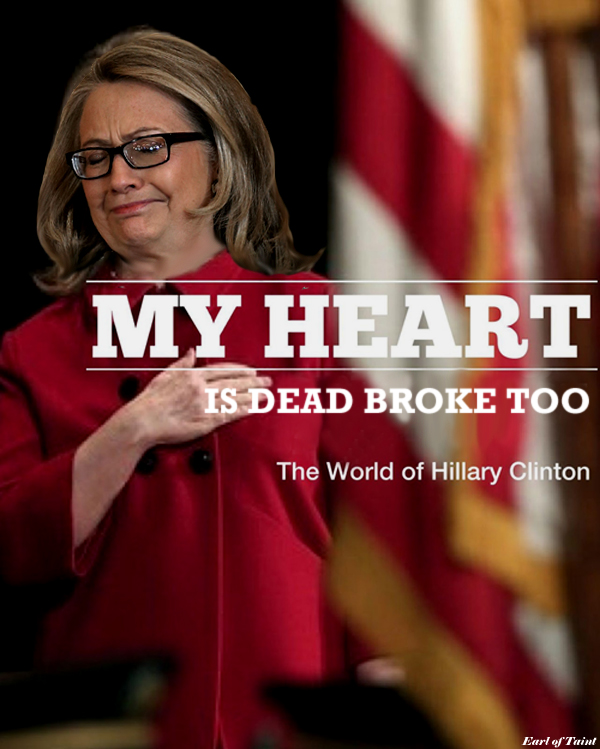 hillary heart is broke