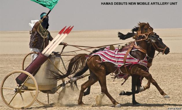 hamas mobile artillery