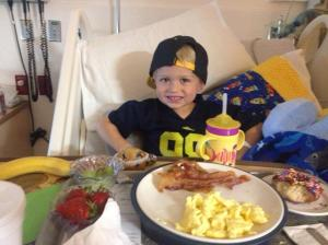 Chad celebrated his 4th birthday in the hospital