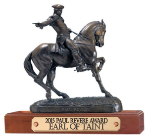 Paul Revere Award For Earl Of Taint