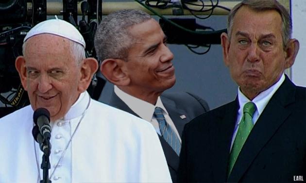 boehner cries w pope n pimp