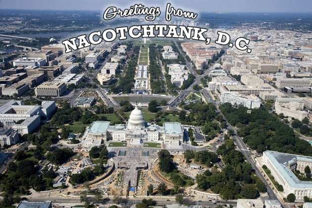 Aerial of the U.S. Capitol under restoration. The United States Capitol is the meeting place of the United States Congress, the legislature of the Federal government of the United States. Located in Washington, D.C., it sits atop Capitol Hill at the eastern end of the National Mall.