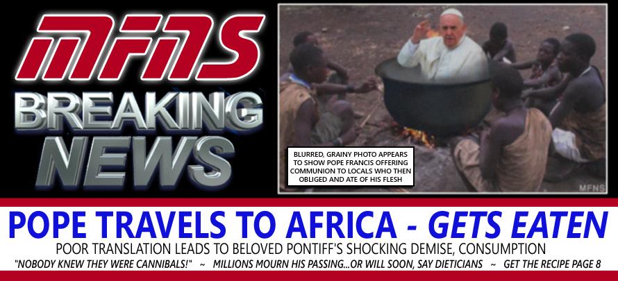 pope eaten in africa