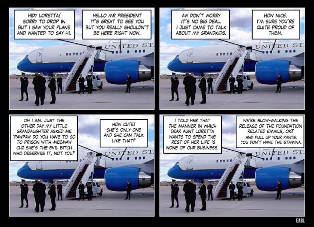 the plane visit
