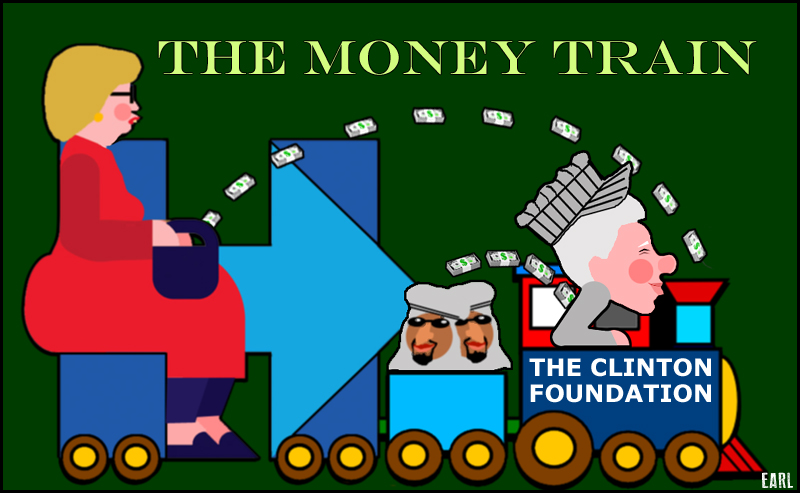 clinton money train