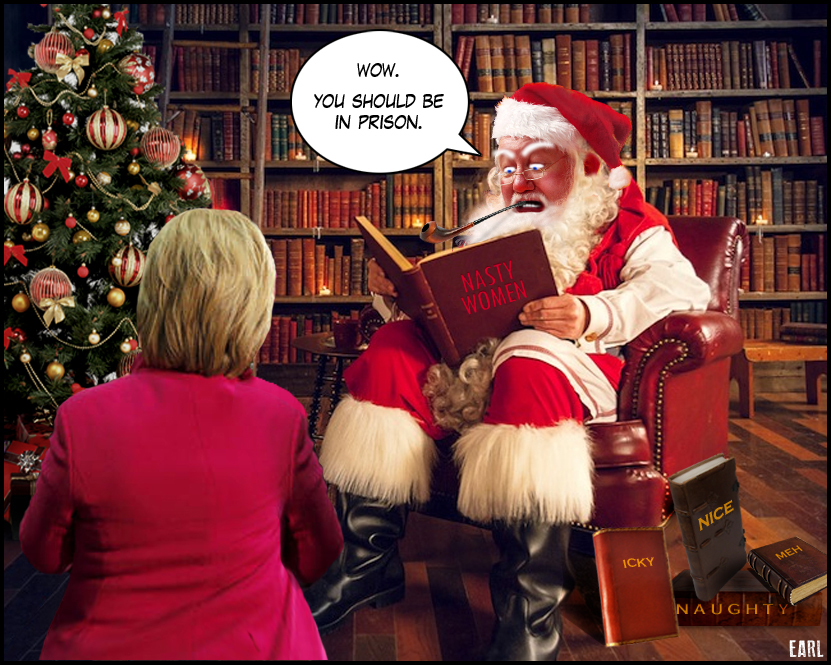 Hillary Clinton Christmas.No Christmas Miracle For Hillary Earl Of Taint