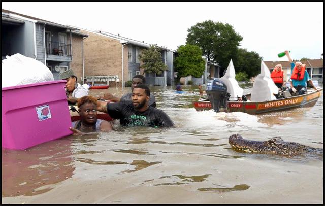 racist flood