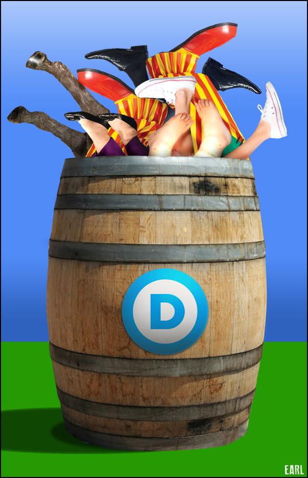 barrel of dems